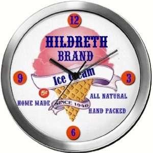 HILDRETH 14 Inch Ice Cream Metal Clock Quartz Movement