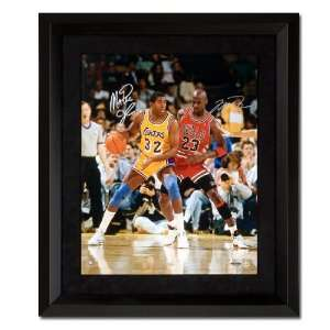 Michael Jordan and Magic Johnson Autographed Photo   32