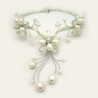 white pearl triple flower necklace by tigerlily trading