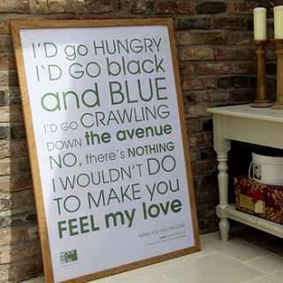 wow feel my love personalised framed print by words on walls