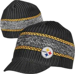 Pittsburgh Steelers Visor Knit Hat Jacquard Heather Visor Knit Hat