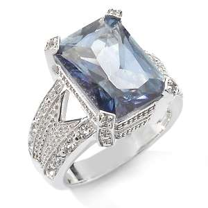 CL by Design 7.75ct Blue Topaz and White Topaz Sterling Silver