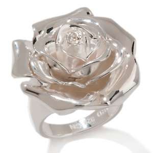 Ardenté 925 Sterling Silver Rose Ring