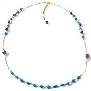 Heritage Gems Blue Lapis and Sleeping Beauty Turquoise Vermeil Pendant