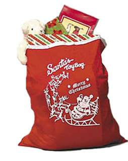 Red Santa Toy Bag  Christmas Accessories & Makeup for Halloween