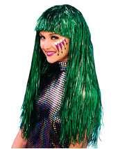 Long Green Wig on Costume Supercenter