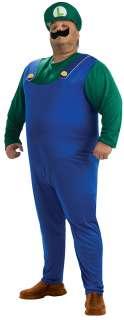Plus Size Luigi Costume   Nintendo Super Mario Brothers Costumes