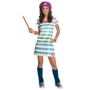 Wizards of Waverly Place Alex Striped Dress Child Costume, 65538