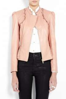 ALICE by Temperley  Pink Lasercut Leather Jacket by ALICE By