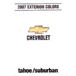 2007 CHEVROLET TAHOE & SUBURBAN Exterior Paint Chips