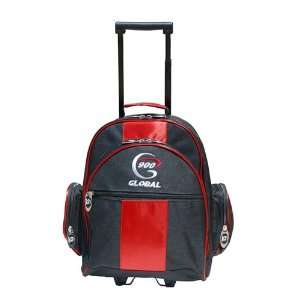 Global Value 1 Ball Roller Bowling Bag  Red/Black