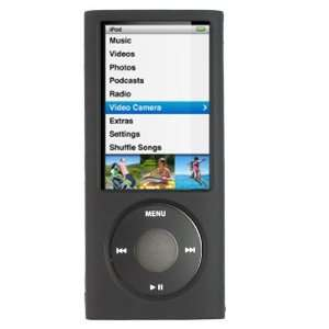 GTMax Black Rubberized Snap on Crystal Cover Case for Apple iPod nano
