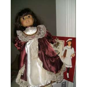American Girl Doll w/ Stand 1986 Samantha Taffeta Dress