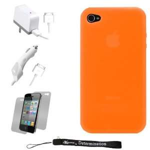 Orange Smooth Durable Protective Silicone Skin Cover Case for Apple