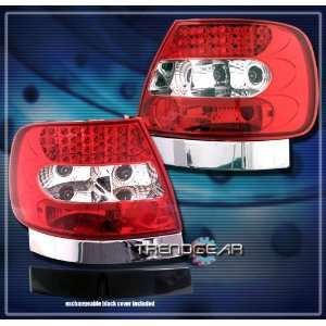 Audi A4 Led Tail Lights Red Clear LED Taillights 1996 1997