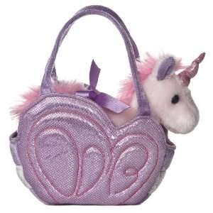 : Aurora Plush Fancy Pals Pet Carrier Purple Butterfly: Toys & Games