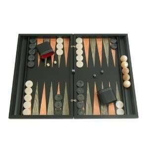 Backgammon Board Game Set with Racks (Large 19 Wood Case