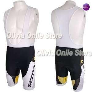 2011 scotts black/white cycling bib shorts bicycle