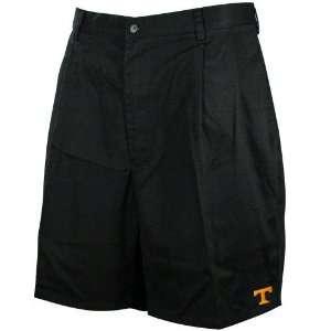 Tennessee Volunteers Black Khaki Pleated Shorts  Sports
