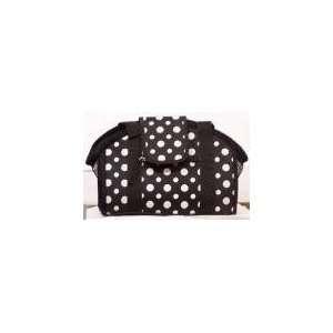 Open Top Big Dot Polka Dot Pet Carrier   Black & White