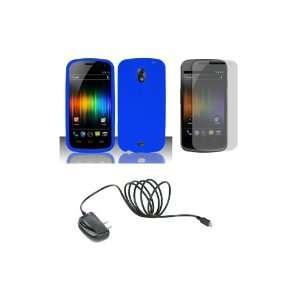 Nexus (Verizon) Premium Combo Pack   Blue Hard Shield Case Cover