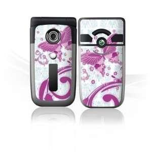 for Sony Ericsson Z550i   Pink Butterfly Design Folie Electronics