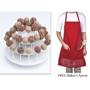 Attractive Round White 3 Tier Stand Holds up to 40 Cake Pops or
