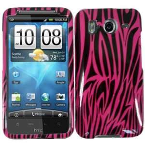 Pink Zebra Hard Case Cover for HTC Inspire 4G Cell Phones