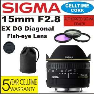 15mm F2.8 EX DG Diagonal Fisheye Lens for Canon Digital SLR Cameras
