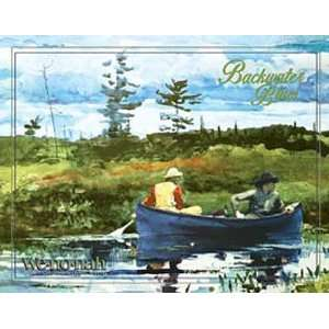 Outdoor Wenonah Canoes Metal Tin Sign Backwater Blues