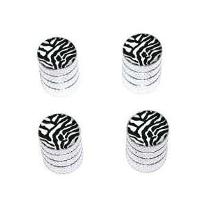 Zebra Print   Tire Rim Wheel Valve Stem Caps   Aluminum Automotive