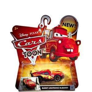 Cars Toons Burnt Lightning McQueen #1 Vehicle Toys