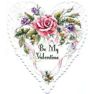 Valentines Day Greeting Card   White Heart Shaped