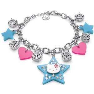 Sanrio Hello Kitty Large Blue Star Charm Bracelet