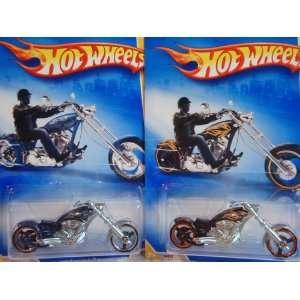 Hot Wheels OCC Splitback Chopper Bike Variant #9 Set Deep Metallic