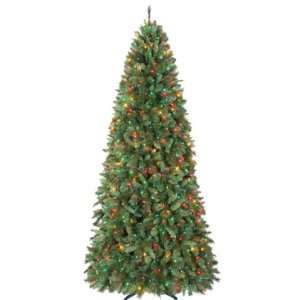 Living 9ft Aspen Mountain Slim Christmas Tree with Multi color Lights