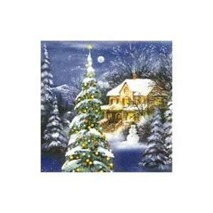 Winter World Blue Christmas Party Beverage Napkins