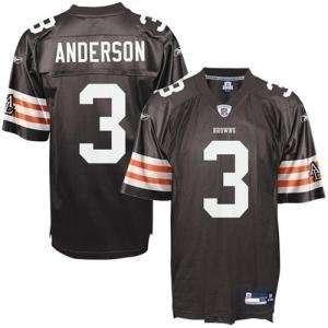 Cleveland Browns Reebok Replica Jersey   #3 Anderson