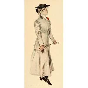 1908 Henry Hutt Victorian Costume Man Lady Print SET   Original Color