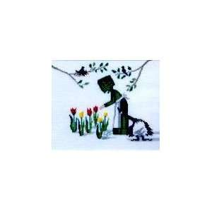 Tulip Time, Cross Stitch from Lynns Prints: Arts, Crafts
