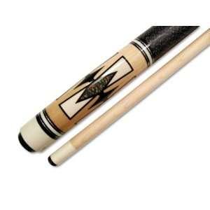 58 Inch 2 Piece Hardwood Maple Pool Cue Billiard Sick, Wood, 21 Ounce