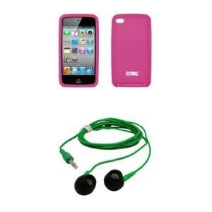 com Apple Ipod Touch 4 Premium Hot Pink Silicone Gel Skin Cover Case