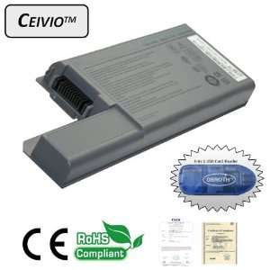 High Capacity 4400mAH 6 Cell Li ion Laptop Battery for Dell Latitude