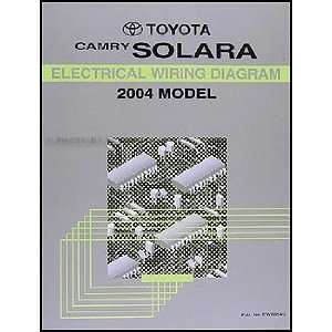 2004 Toyota Camry Solara Wiring Diagram Manual Original Toyota Books