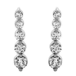 KREMENTZ 14K White Gold and Diamond Drop Earrings, 0.45ctw Jewelry
