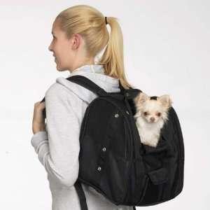Dog Pet Backpack Carrier Tote Bag Black Casual Canine