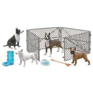My Best Friend Dog Playset American Pit Bull Boxer Gray