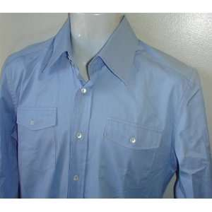 Dolce & Gabbana Mens 100% Authentic Sky Blue Dress Shirt