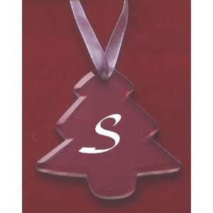 Glass Christmas Tree Ornament with the Letter S