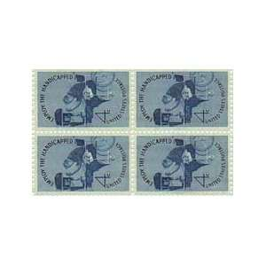 Man in Wheelchair/drill Press Set of 4 X 4 Cent Us Postage Stamps Scot